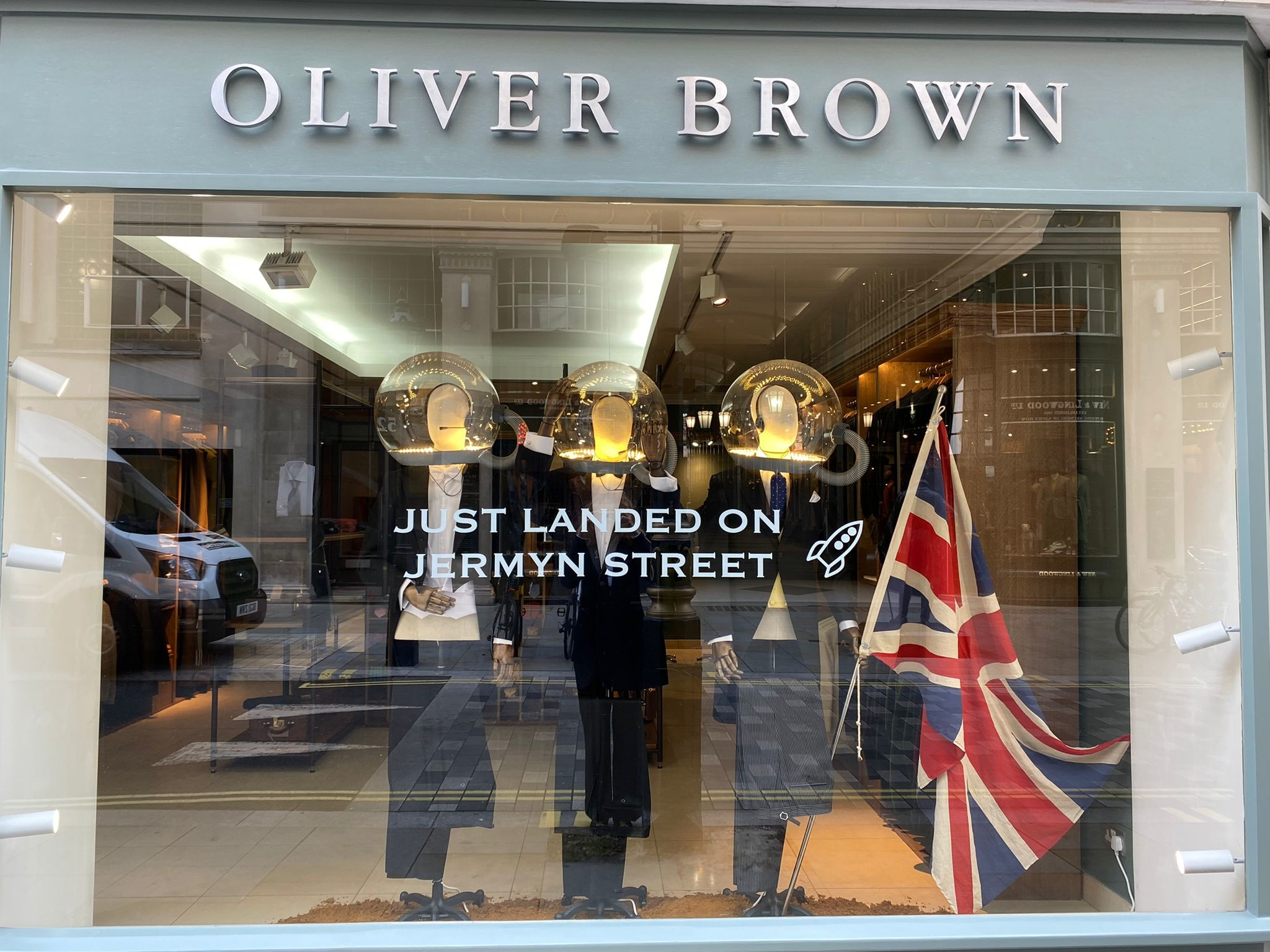 New store Oliver Brown on Jermyn street