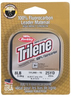 Berkley BERKLEY Trilene® 100% Fluor Carbon Leader 125m (0.15mm - 0.45mm)