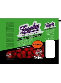 Trophy Baits TROPHY Boilies 1kg/20mm Strawberry