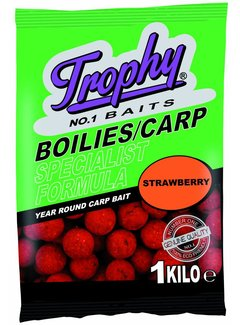 Trophy Baits TROPHY Boilies 1kg/15mm Strawberry