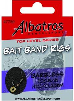 Albatros Hengelsport ALBATROS Toplevel Baitband Rig Medium Barbless 10cm (8st)