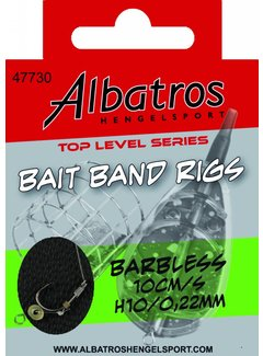 Albatros Hengelsport ALBATROS Toplevel Baitband Rig Small Barbless 10cm (8st)