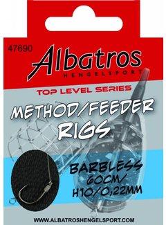 Albatros Hengelsport ALBATROS Toplevel Method Rig Barbless 60cm (8st)