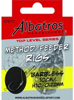 Albatros Hengelsport ALBATROS Toplevel Method Rig Barbless 10cm (8st)