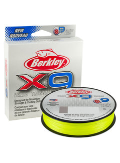 Berkley BERKLEY X9 Fluro Green 300m (0.06mm - 0.20mm)