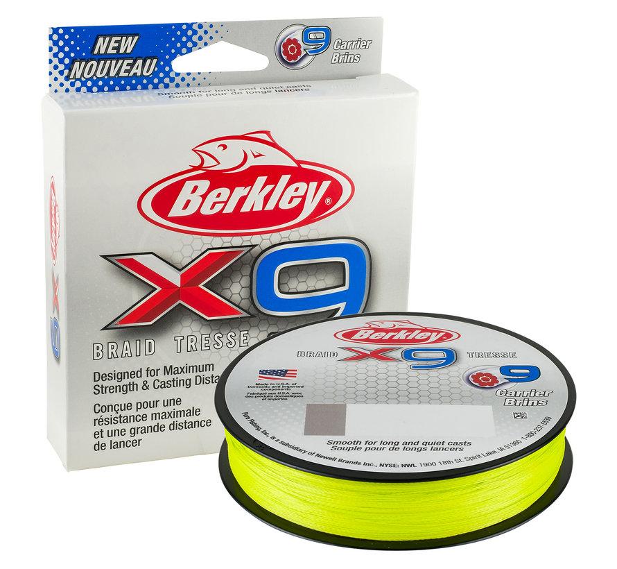 BERKLEY X9 Fluro Green 300m