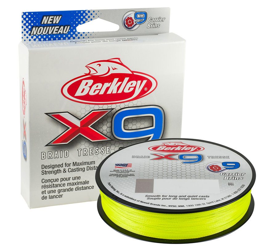 BERKLEY X9 Fluro Green 150m