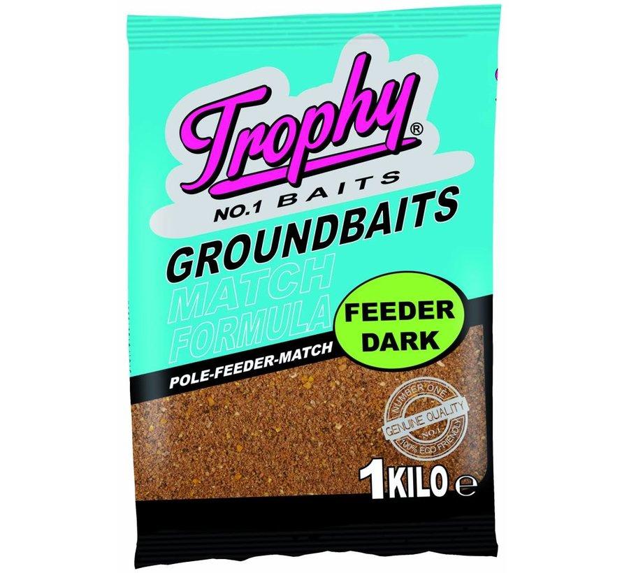 TROPHY Groundbait 1kg - Feeder dark