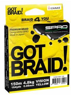 SPRO SPRO Got Braid! Yellow (0.10-0.20mm) (150m)