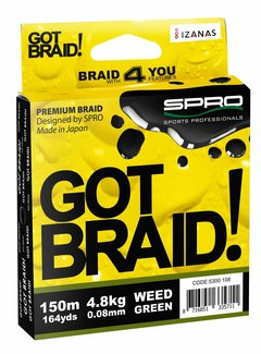 SPRO SPRO Got Braid! Green (0.10-0.20mm) (150m)