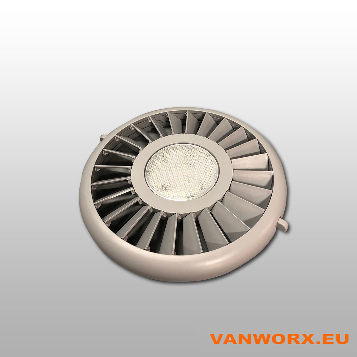 Sluitbaar ventilatierooster Luxe Ø280 mm met LED