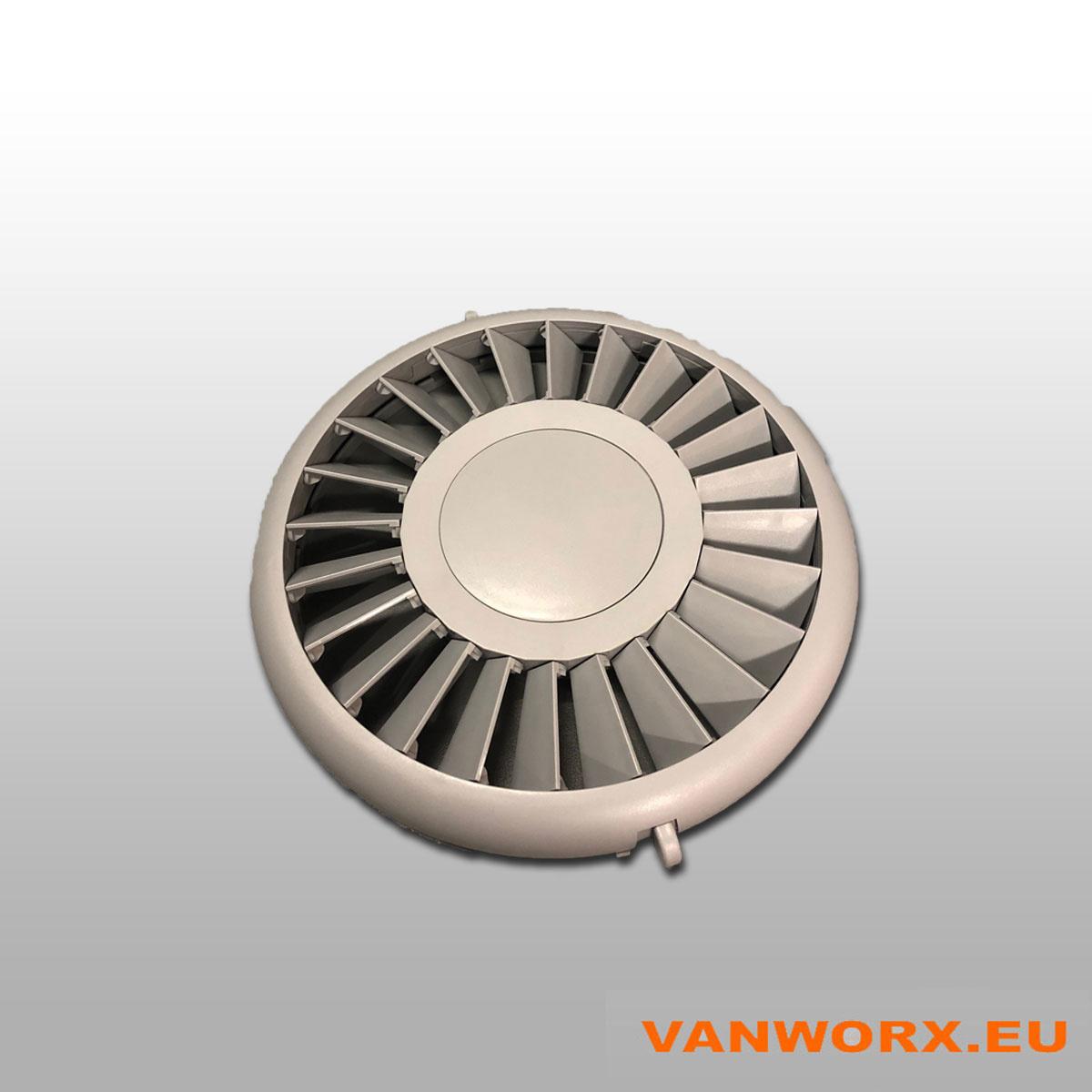 Sluitbaar ventilatierooster Luxe Ø280 mm