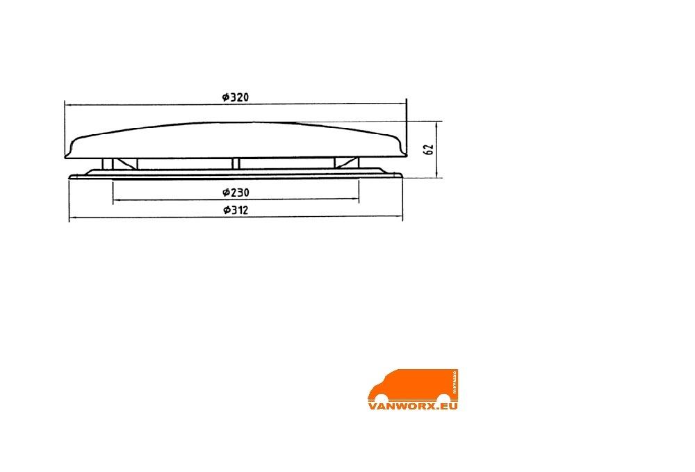 Rooftop ventilator round 12V