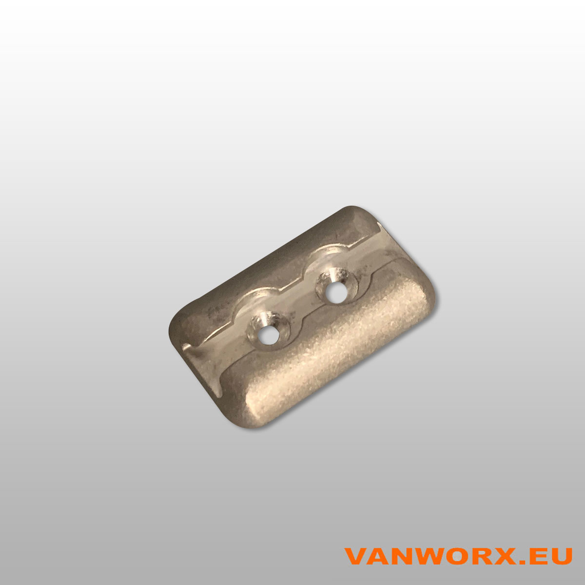 Anchor plate for airline rails