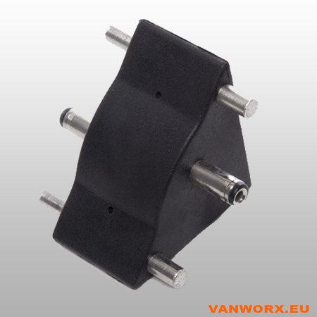 Adapter Connector hoek  LED strip ALU