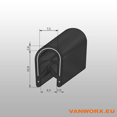 Klemprofiel PVC 4-6 mm