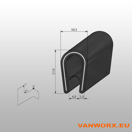 Klemprofiel PVC 1-4 mm