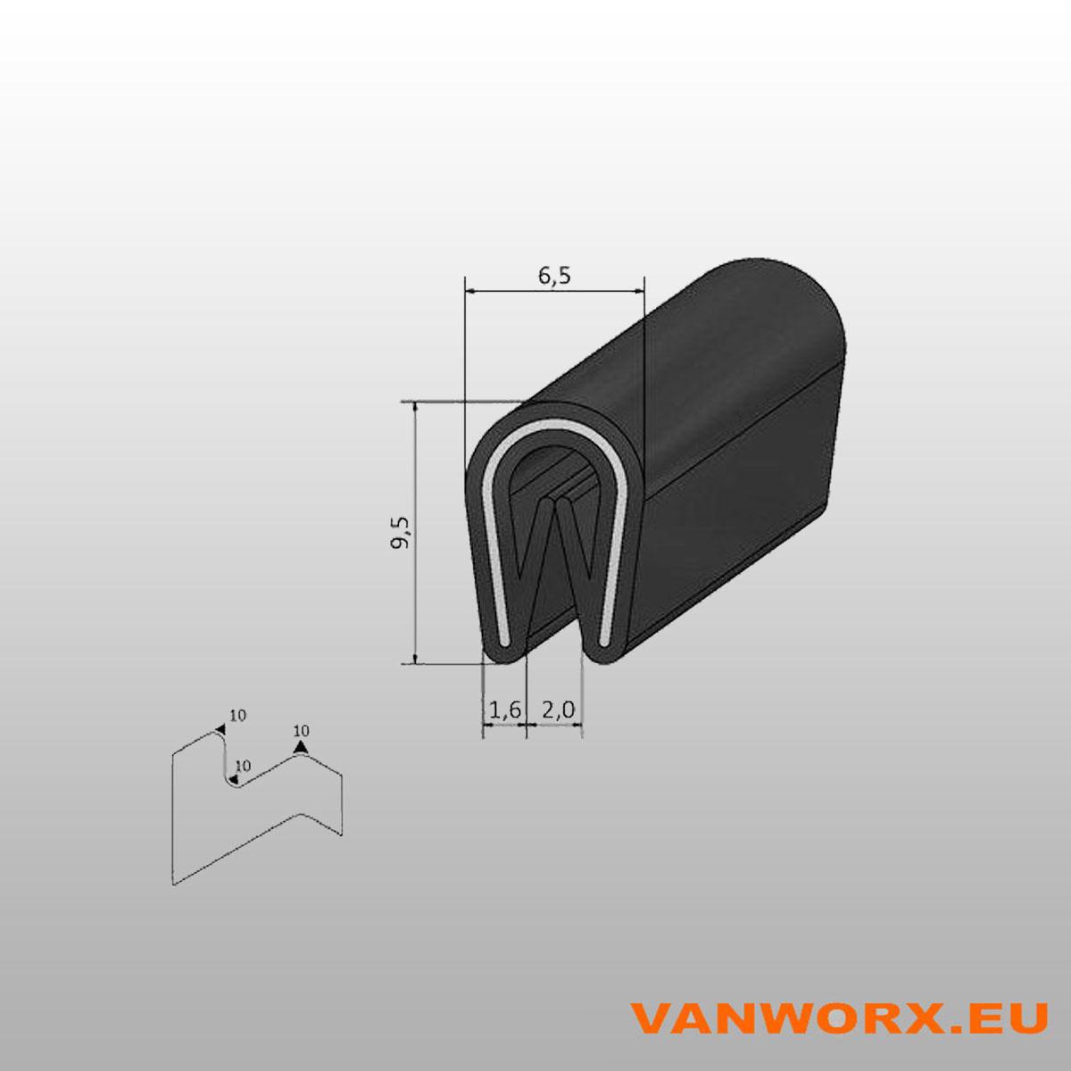 Klemprofiel PVC 1-2 mm