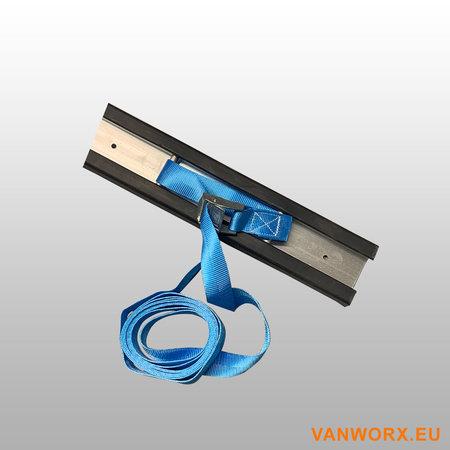 Aluminium vastzetrail met rubber