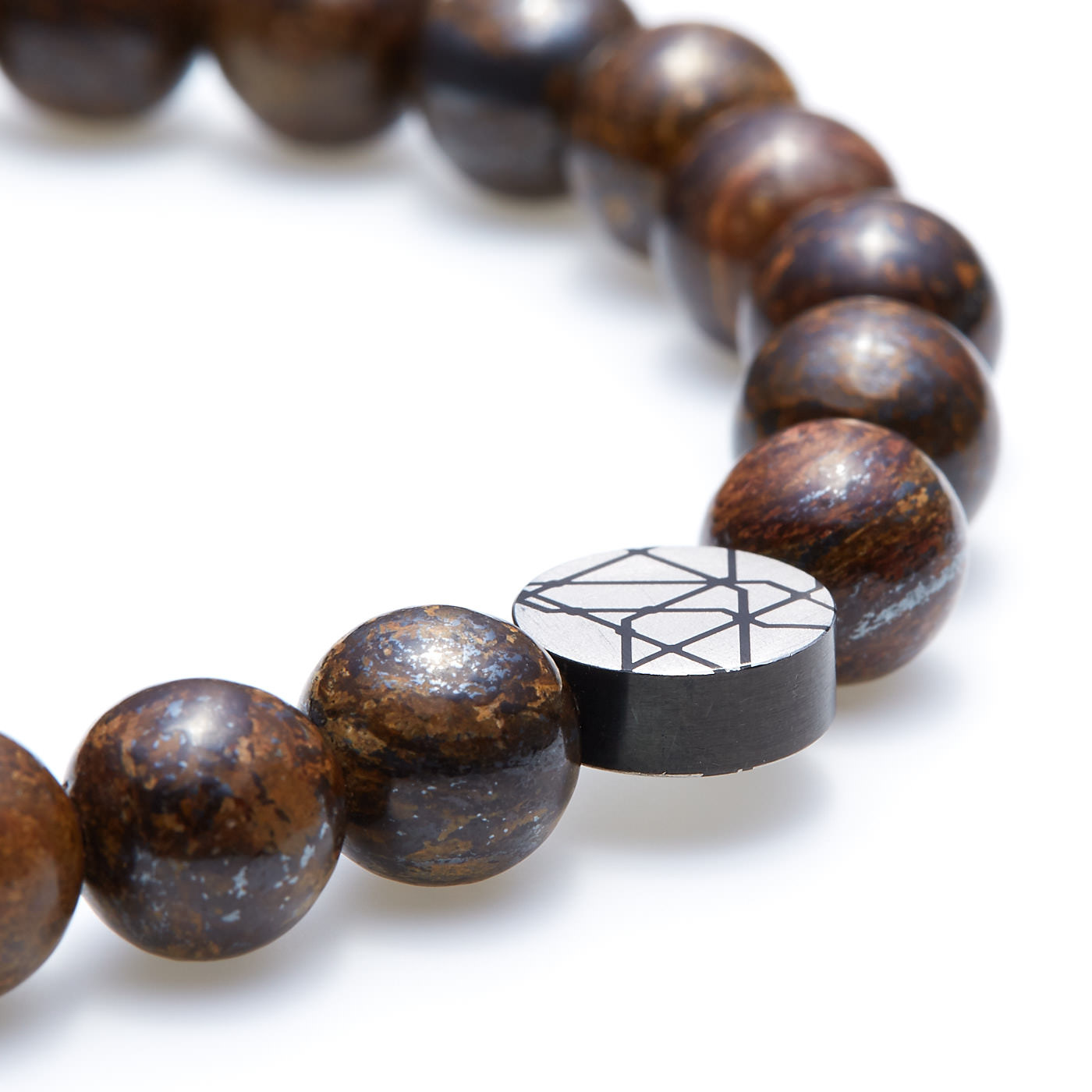 Sem Lewis Piccadilly South Kensington beaded bracelet brown