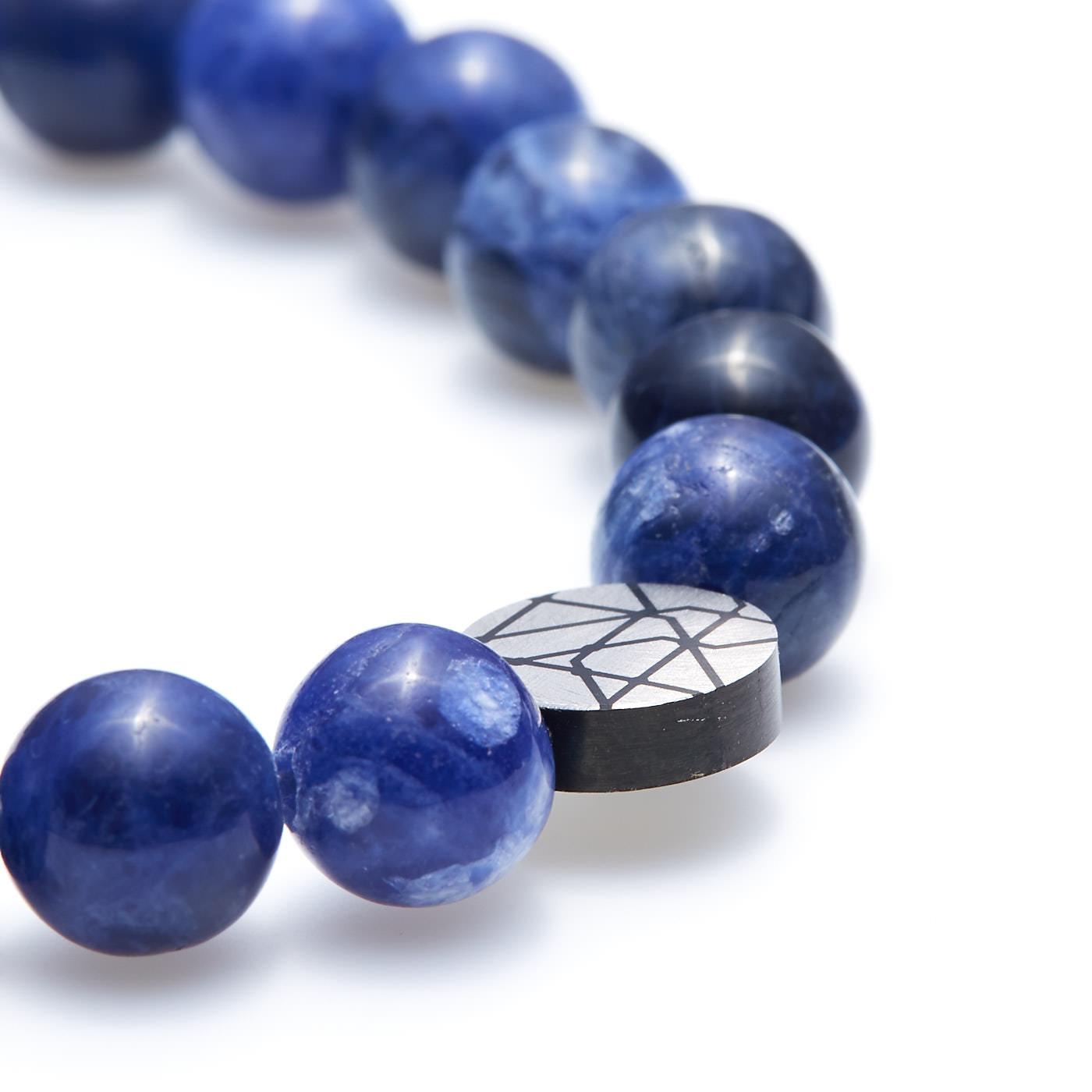 Sem Lewis Piccadilly South Kensington kralenarmband blauw (8 mm kraal)