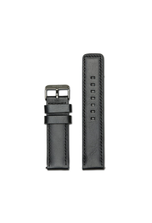 Sem Lewis Leather strap 22mm black