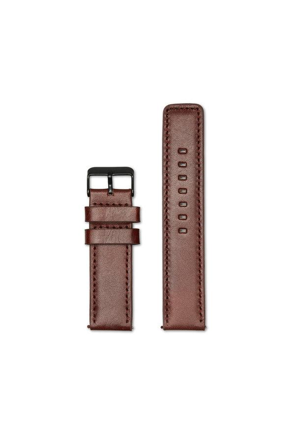 Sem Lewis Leather watch strap 22 mm brown