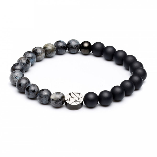 Sem Lewis Piccadilly South Kensington beaded bracelet black and grey
