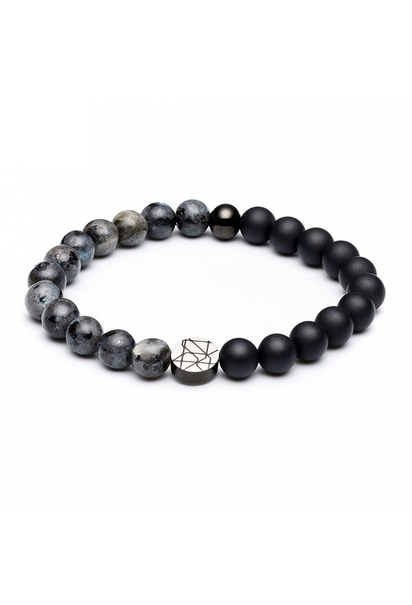 Sem Lewis Piccadilly South Kensington beaded bracelet black/grey