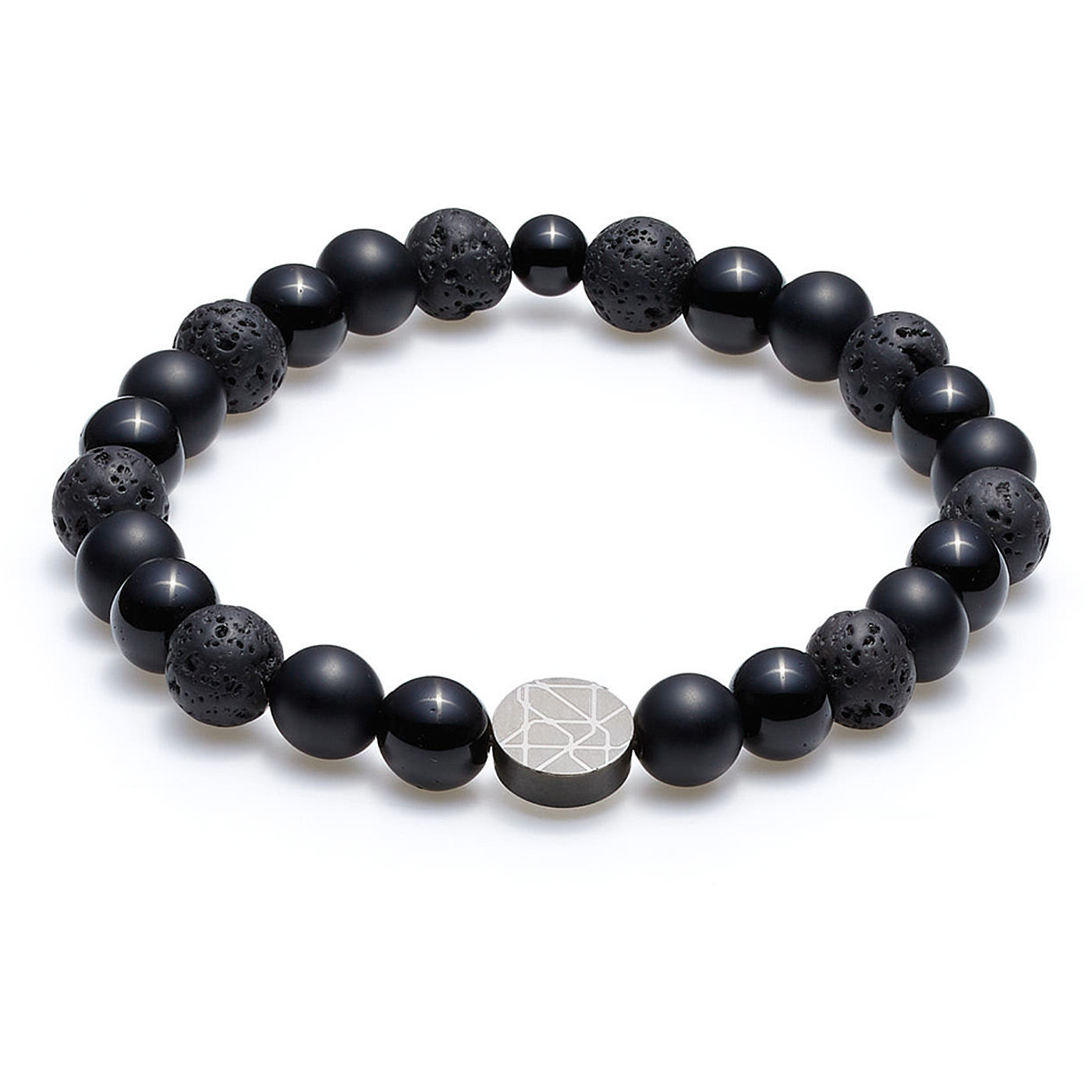 Sem Lewis Piccadilly South Kensinton perlearmbånd sort (8 mm perle)