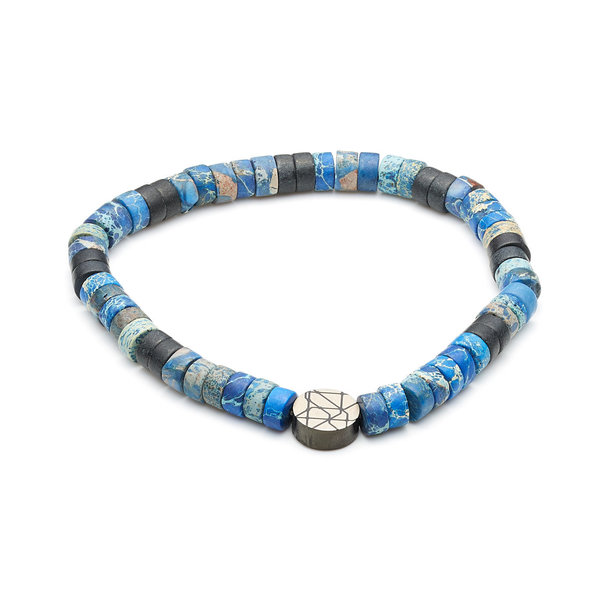 Sem Lewis Piccadilly South Kensington beaded bracelet blue