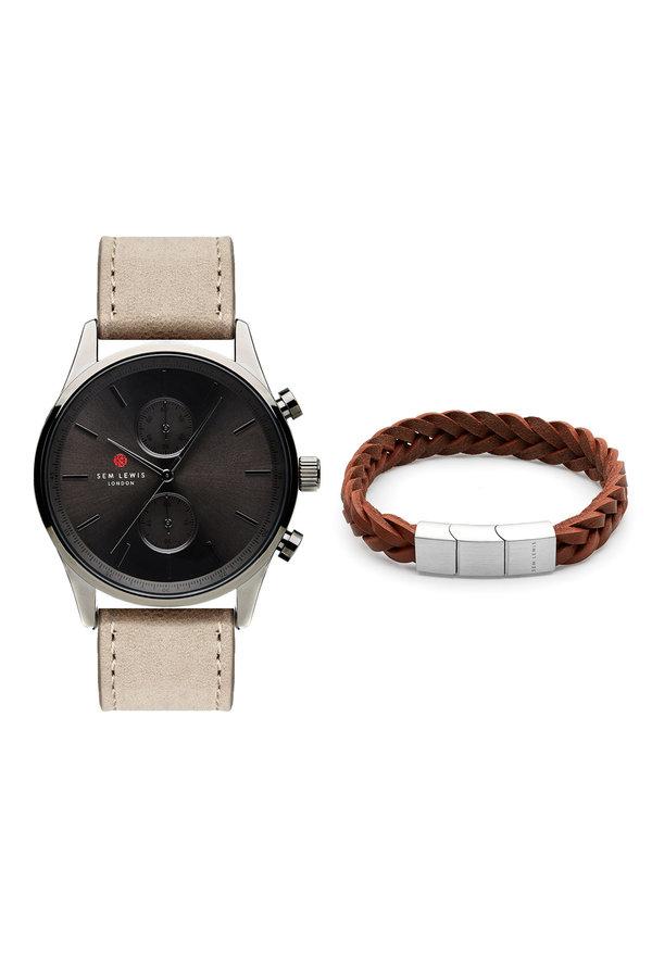 Sem Lewis Set regalo con cronografo Metropolitan e braccialetto Bakerloo Paddington