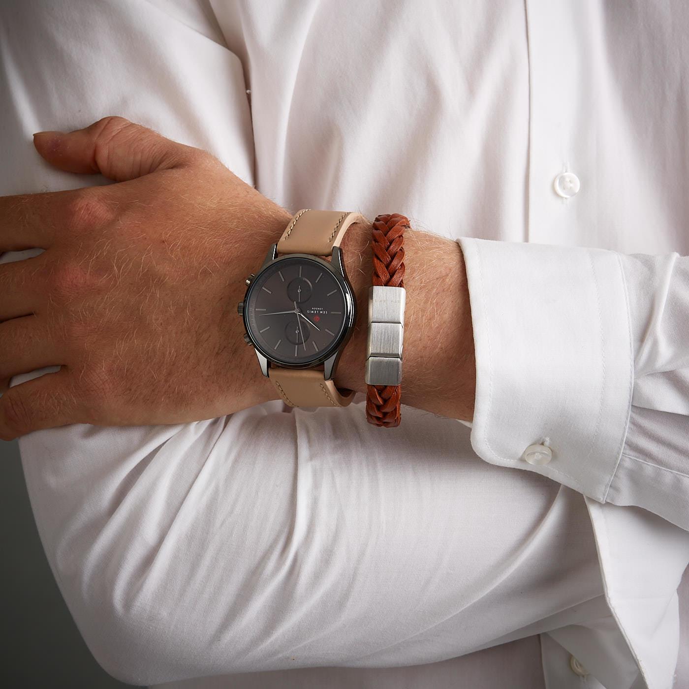 Sem Lewis Metropolitan Chronograph und Bakerloo Paddington Uhrenarmband Geschenkset