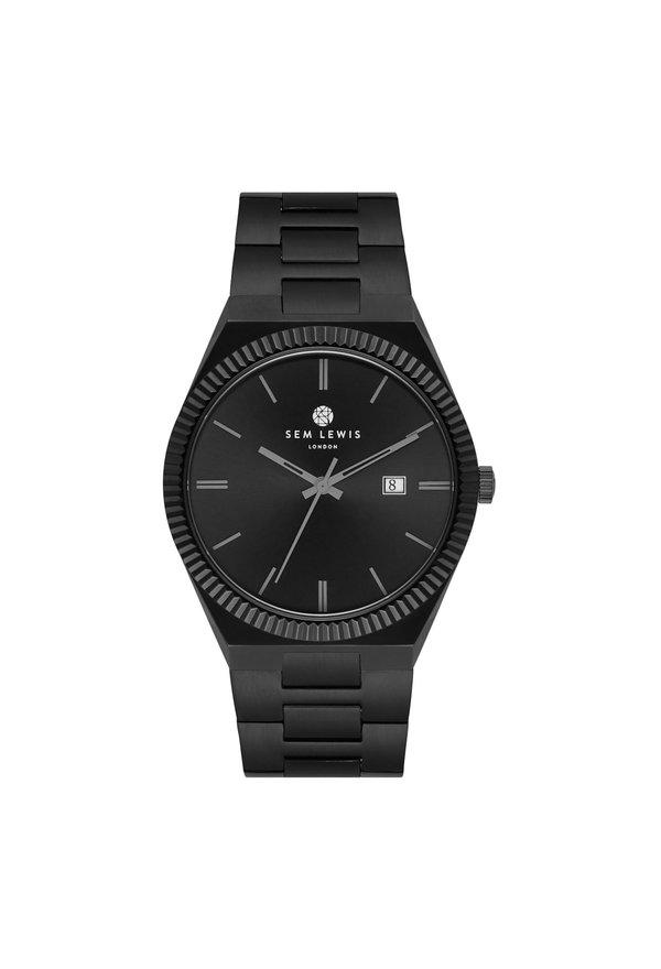 Sem Lewis Aldgate horloge zwart