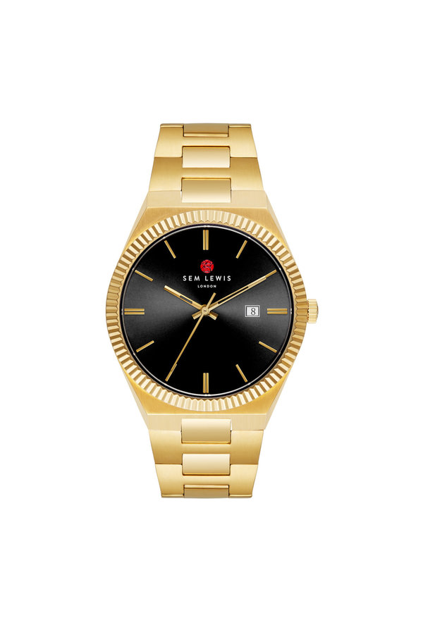 Sem Lewis Aldgate horloge goudkleurig en zwart