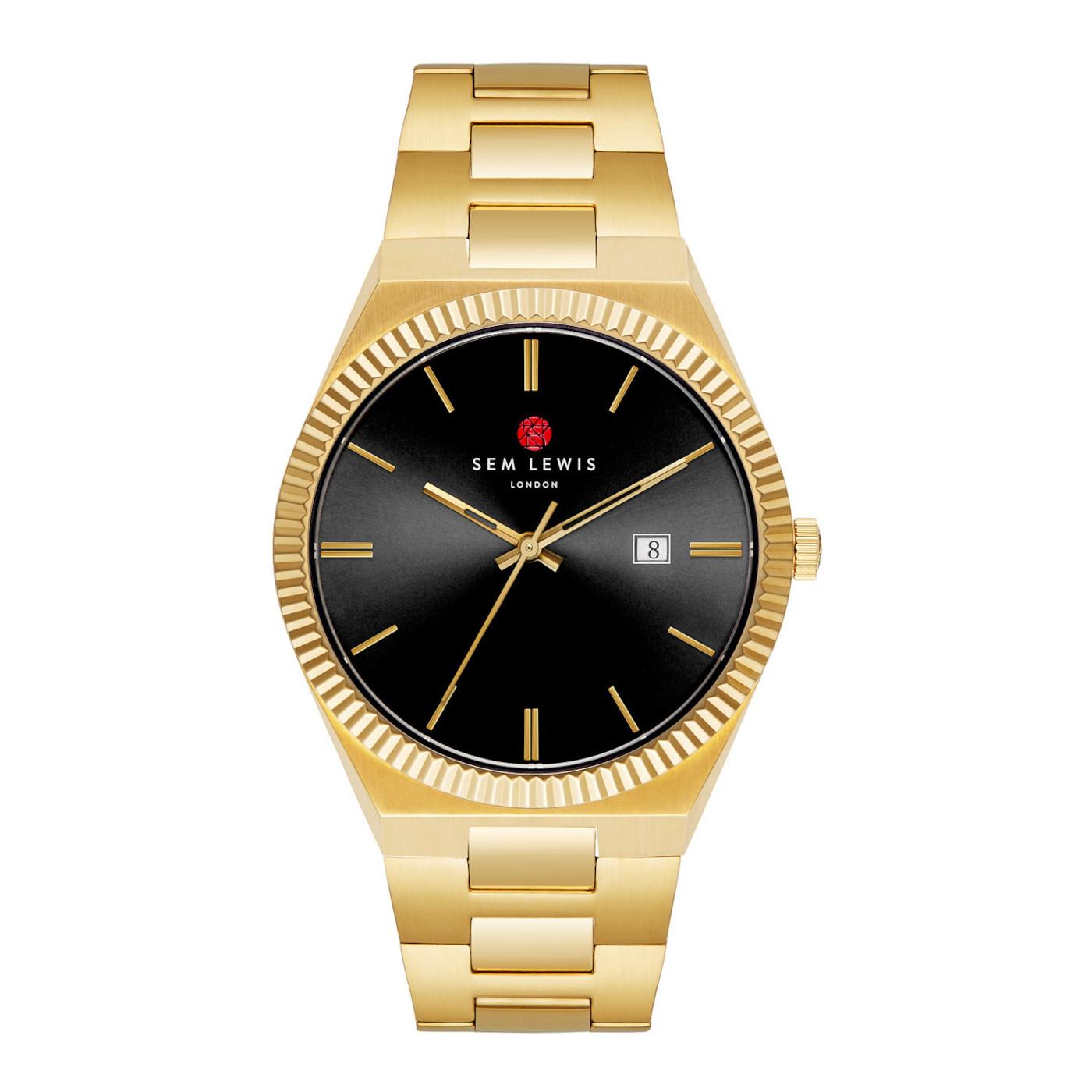 Sem Lewis Aldgate Armbanduhr schwarz/goldfarben