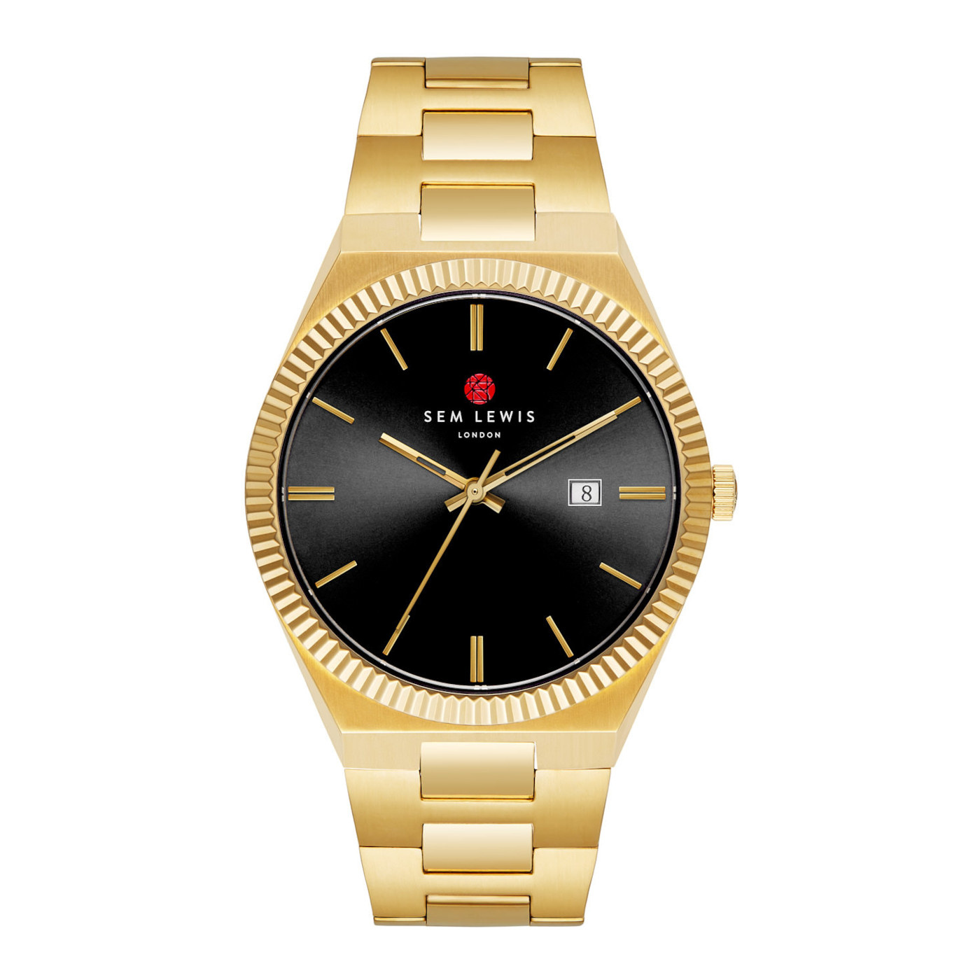 Sem Lewis Aldgate watch black/gold colored
