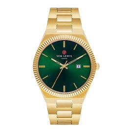 Sem Lewis Aldgate montre vert / couleur or