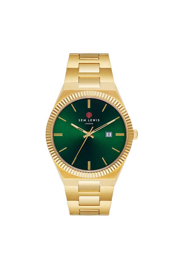 Sem Lewis Aldgate Armbanduhr grün/goldfarben