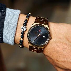 Sem Lewis Aldgate Uhr goldfarben und schwarz