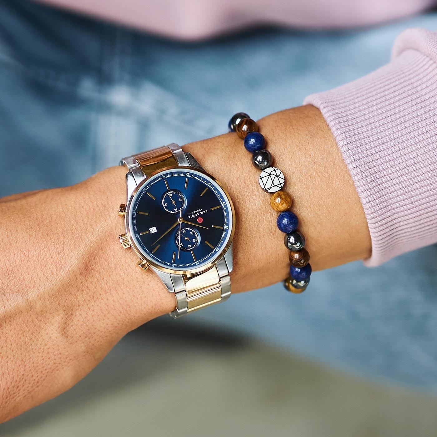 Sem Lewis Piccadilly South Kensington pärlstav armband flerfärgad