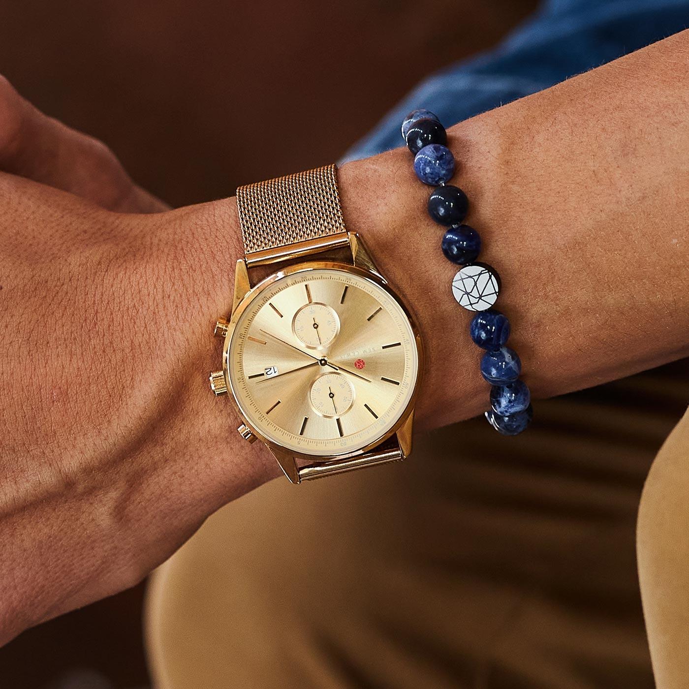 Sem Lewis Piccadilly South Kensinton bead bracelet blue (8 mm bead)