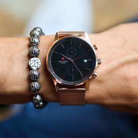 Sem Lewis Piccadilly South Kensington bracelet en perles gris