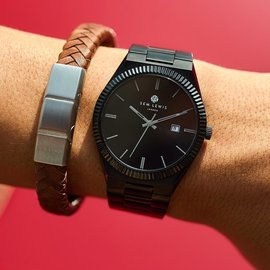 Sem Lewis Aldgate Uhr schwarz