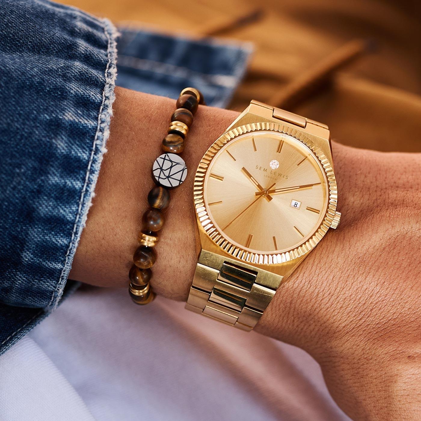 Sem Lewis Aldgate Armbanduhr goldfarben