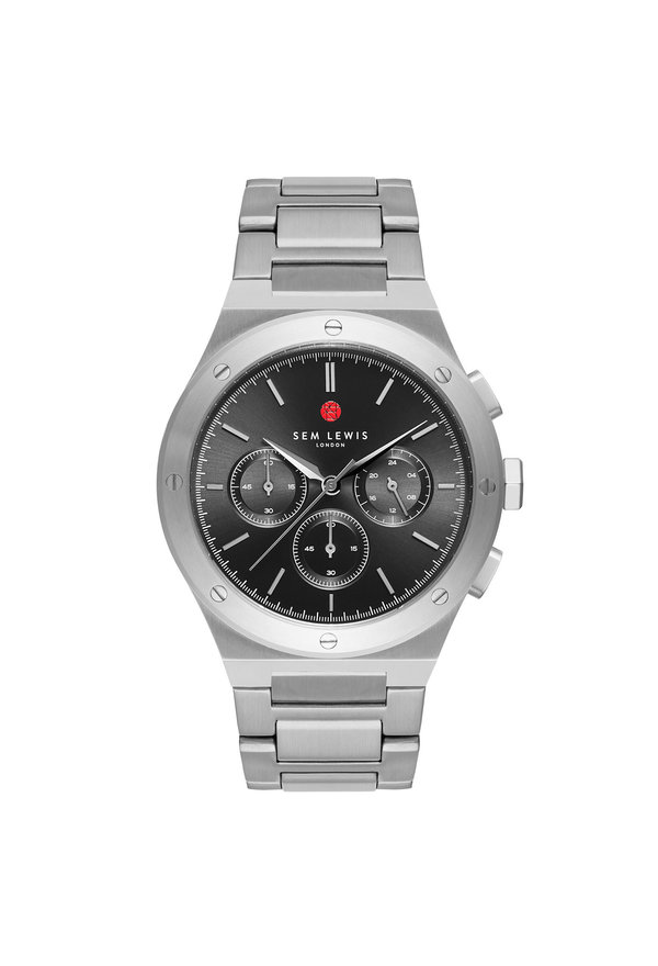 Sem Lewis Moorgate chronograph watch silver colored and gunmetal