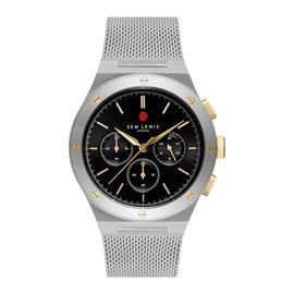 Sem Lewis Moorgate orologio cronografo color argento e nero