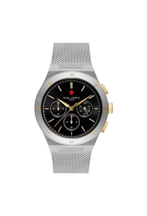 Sem Lewis Moorgate chronograph watch black/silver colored