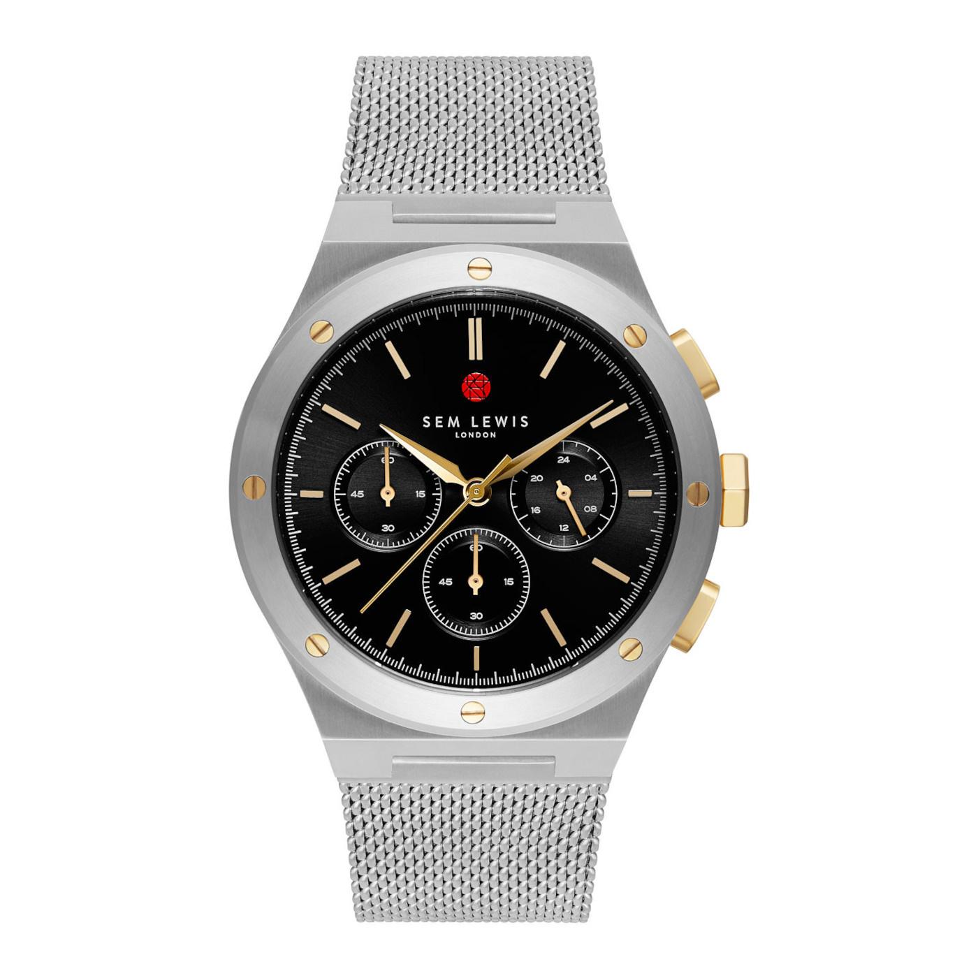 Sem Lewis Moorgate montre chronographe couleur argent et noir