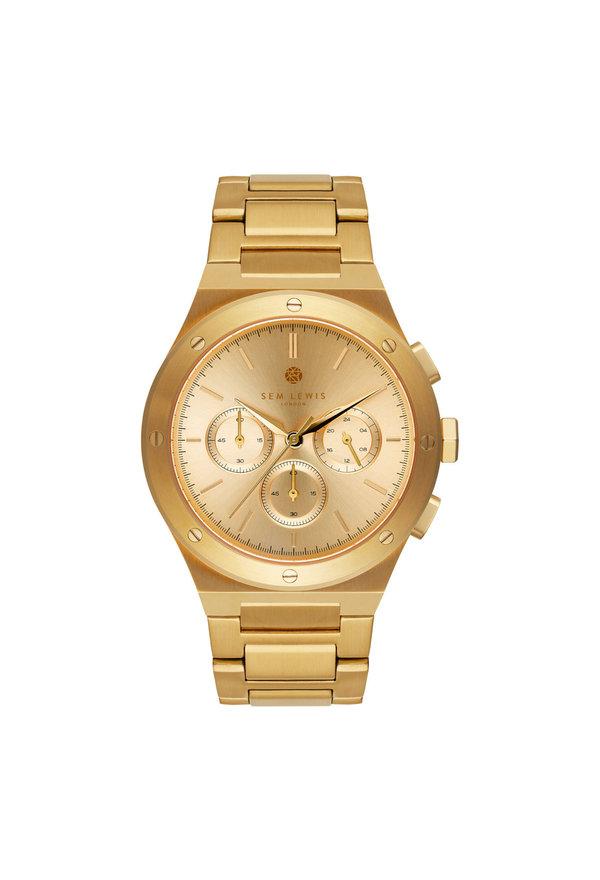 Sem Lewis Moorgate orologio cronografo color oro